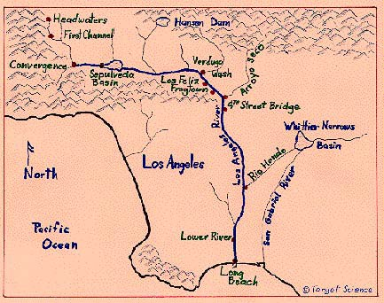 What Do You Mean You Didnt Know There Was A River In Los Angeles - Los angeles river map